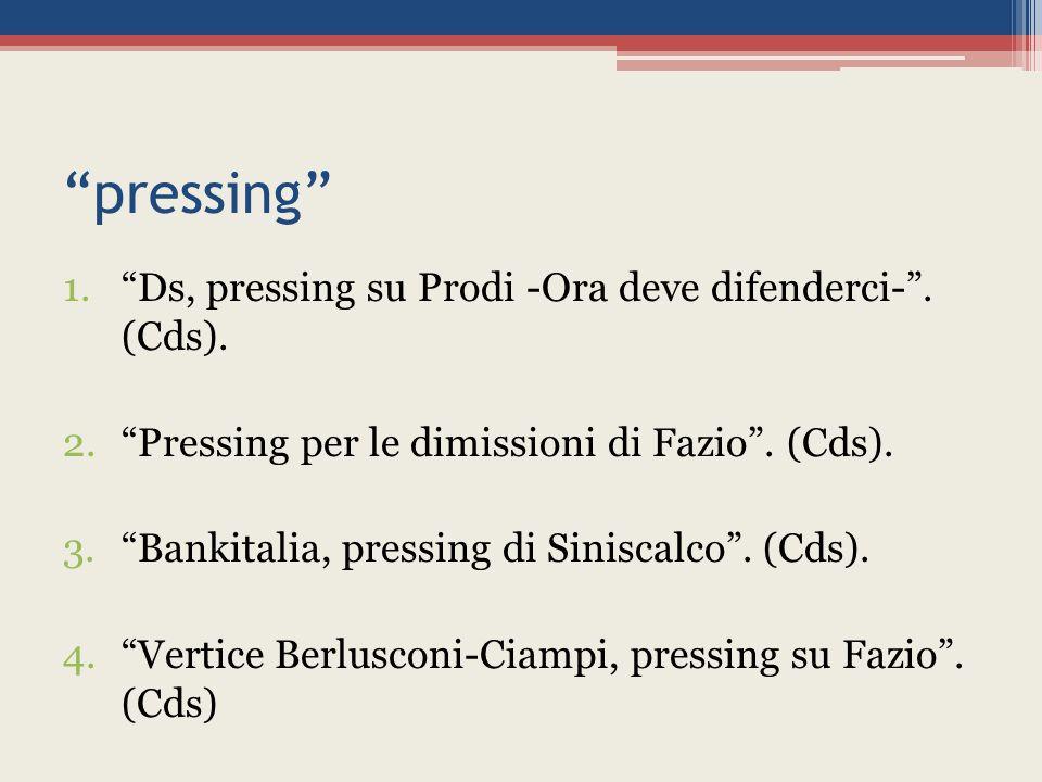 pressing 1. Ds, pressing su Prodi -Ora deve difenderci- .