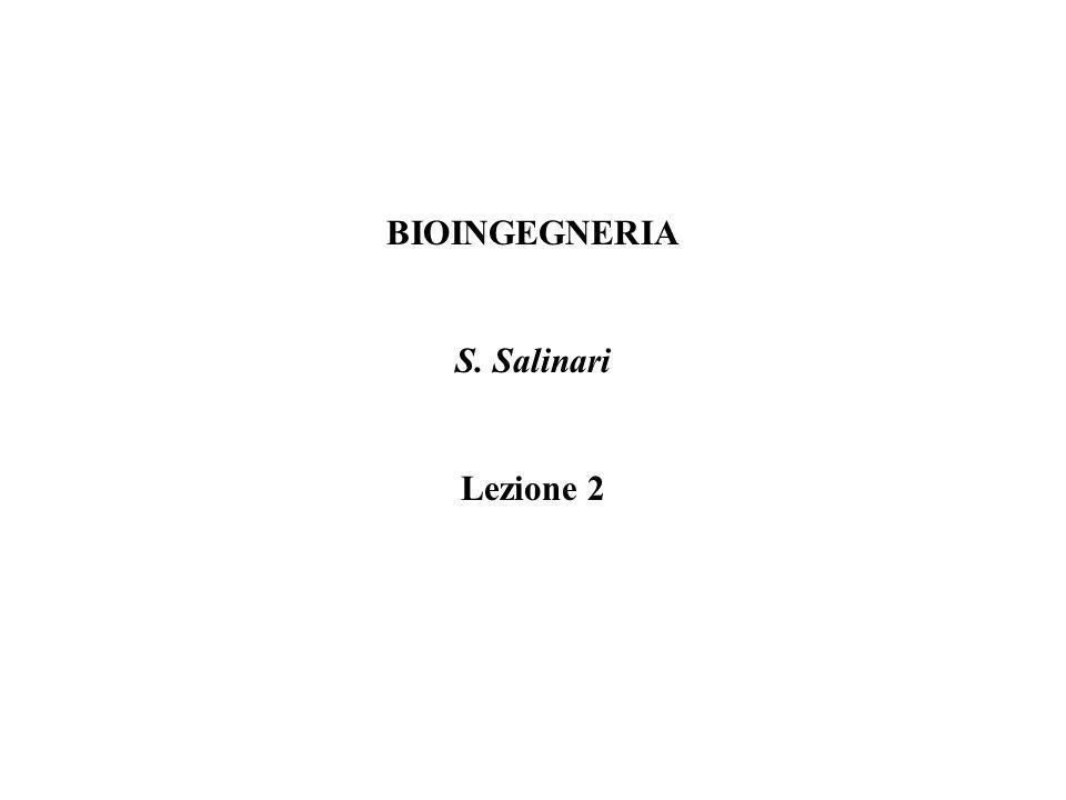 BIOINGEGNERIA S. Salinari Lezione 2