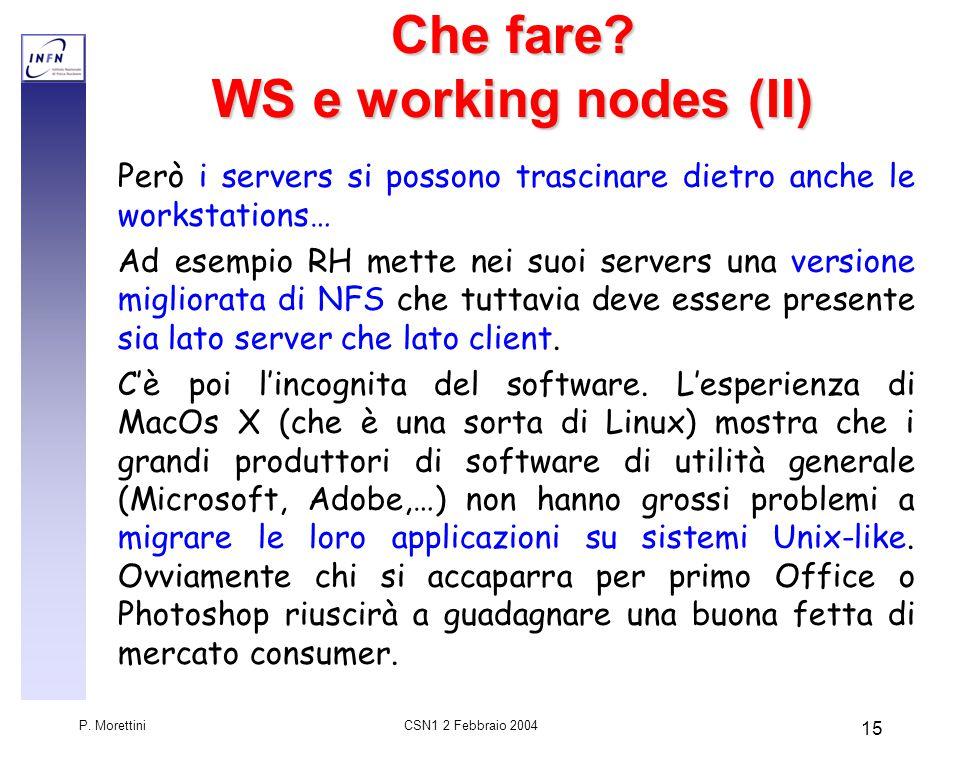 CSN1 2 Febbraio 2004 P. Morettini 15 Che fare.