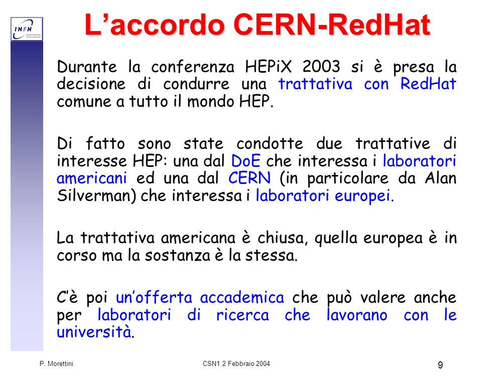 CSN1 2 Febbraio 2004 P.