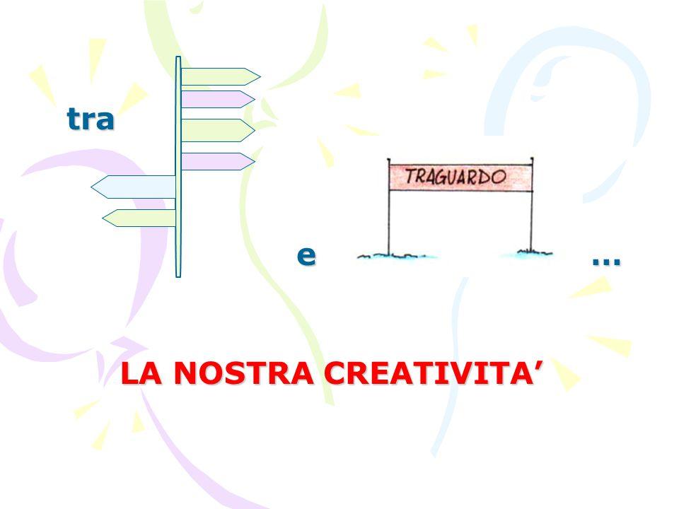 tra e LA NOSTRA CREATIVITA' …
