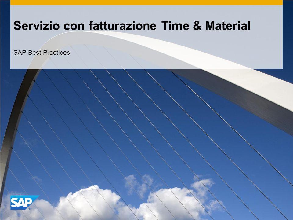 Servizio con fatturazione Time & Material SAP Best Practices