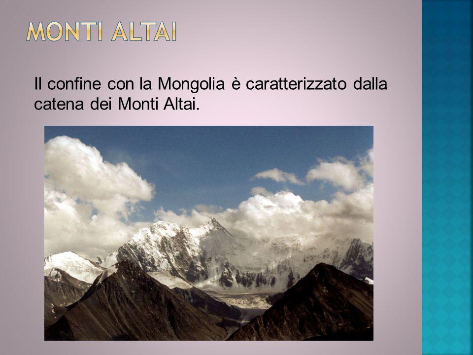 Il confine con la Mongolia è caratterizzato dalla catena dei Monti Altai.