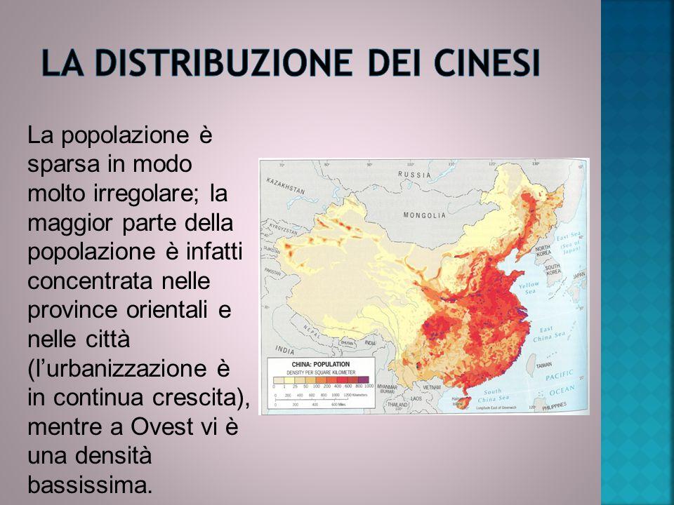 La popolazione è sparsa in modo molto irregolare; la maggior parte della popolazione è infatti concentrata nelle province orientali e nelle città (l'u