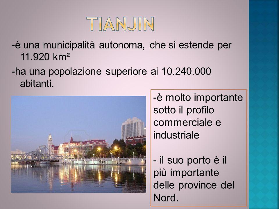 -è una municipalità autonoma, che si estende per 11.920 km² -ha una popolazione superiore ai 10.240.000 abitanti. -è molto importante sotto il profilo