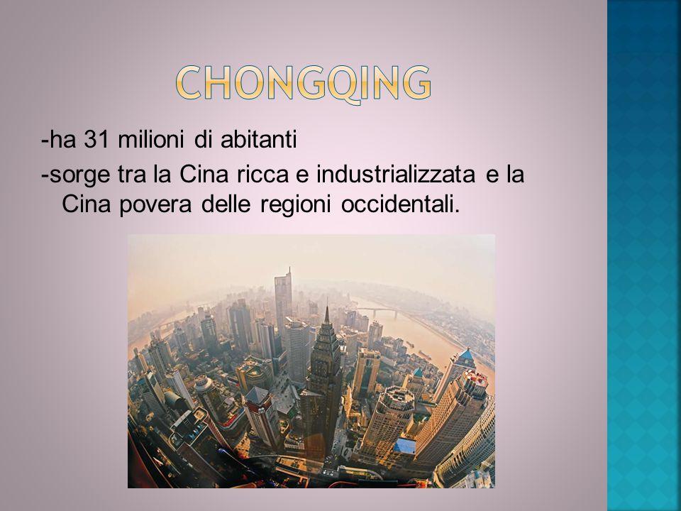 -ha 31 milioni di abitanti -sorge tra la Cina ricca e industrializzata e la Cina povera delle regioni occidentali.