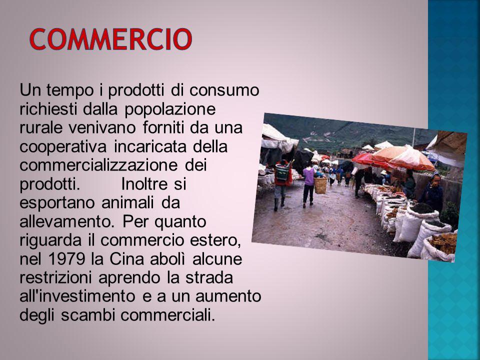 Un tempo i prodotti di consumo richiesti dalla popolazione rurale venivano forniti da una cooperativa incaricata della commercializzazione dei prodott