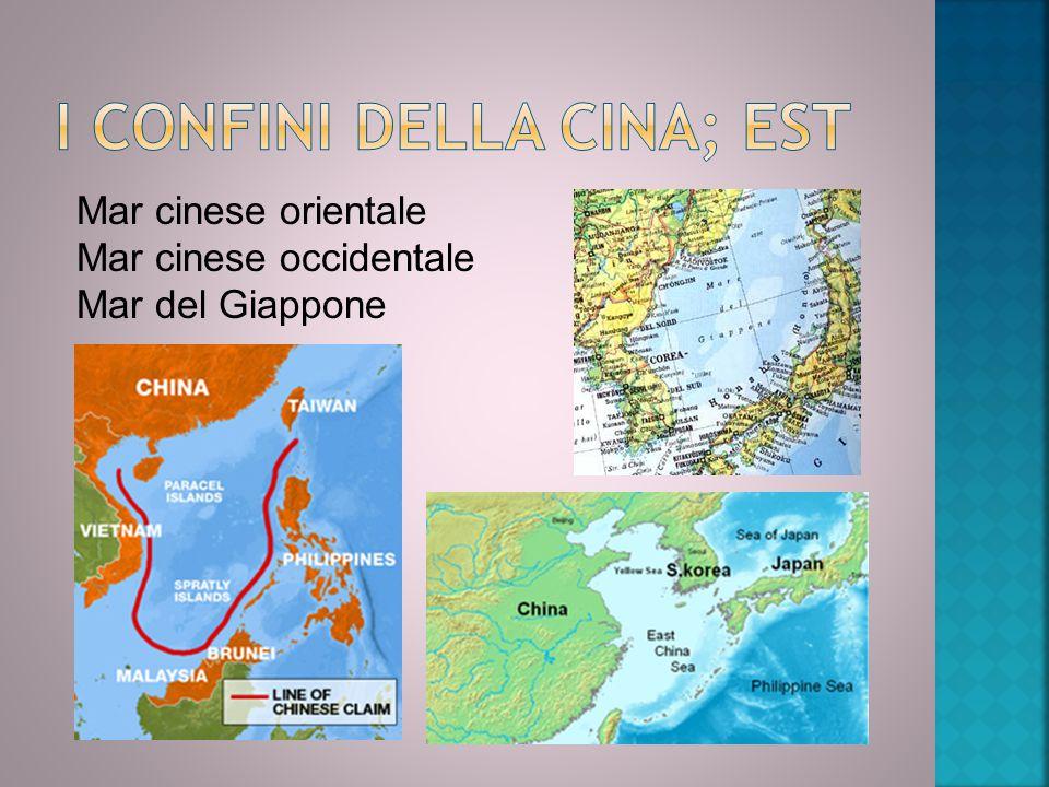 Mar cinese orientale Mar cinese occidentale Mar del Giappone