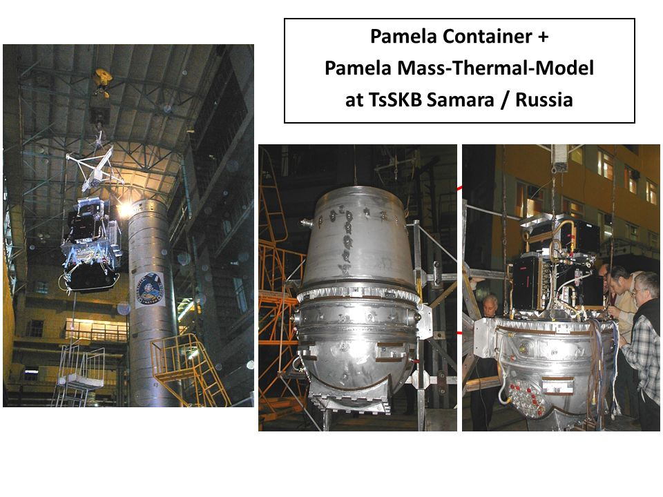 Pamela Container + Pamela Mass-Thermal-Model at TsSKB Samara / Russia