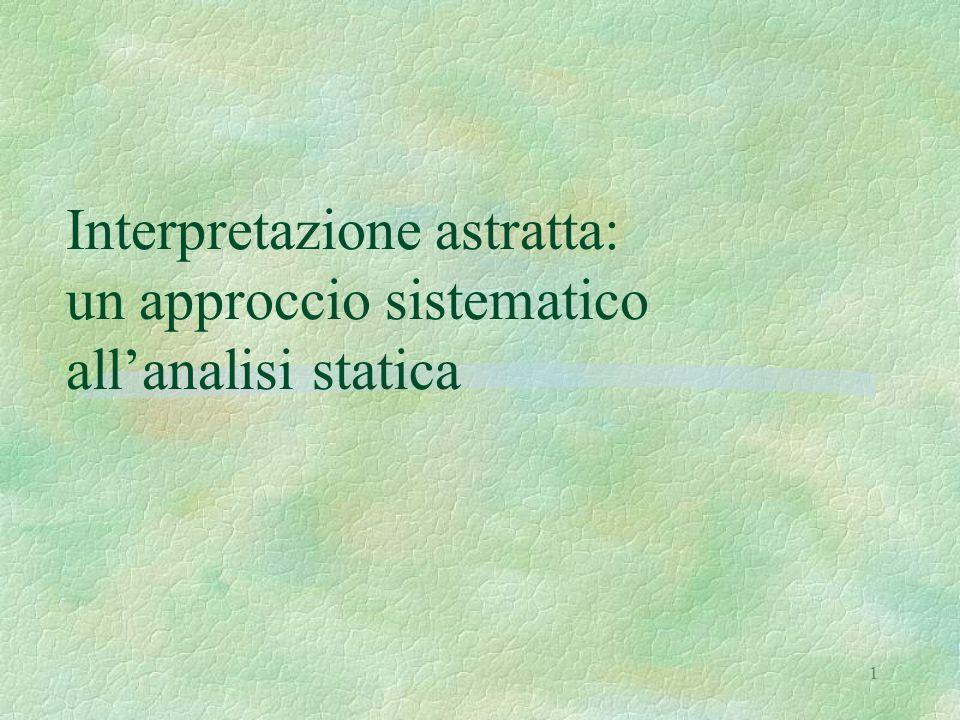 1 Interpretazione astratta: un approccio sistematico all'analisi statica