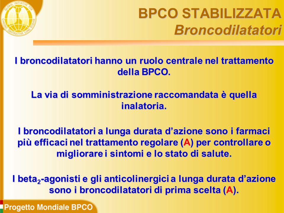 I broncodilatatori hanno un ruolo centrale nel trattamento della BPCO.