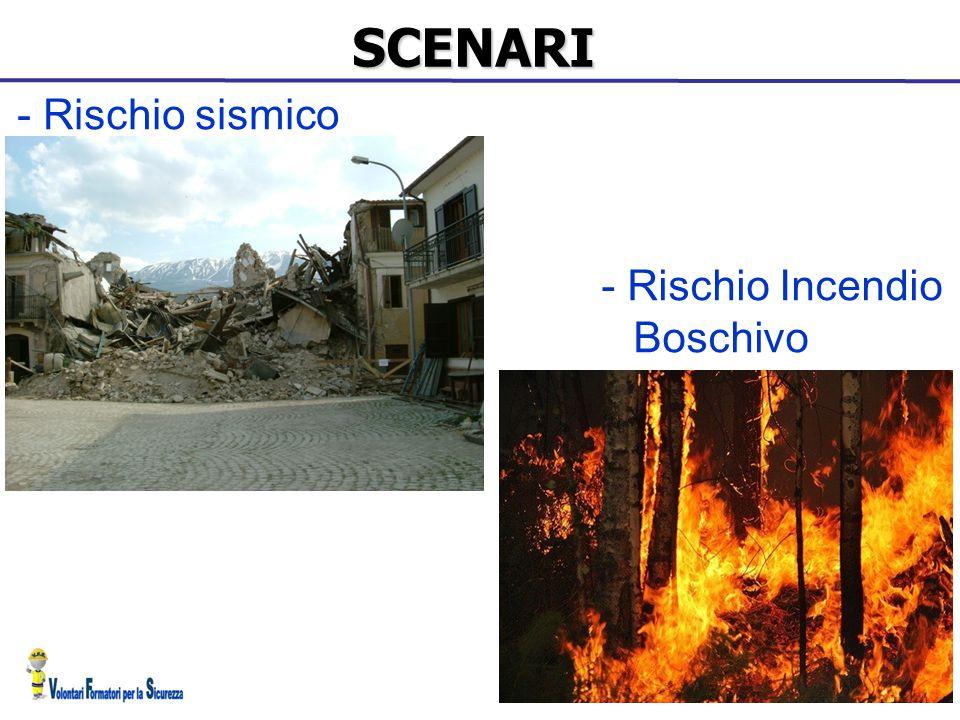 SCENARI - Rischio Incendio Boschivo - Rischio sismico