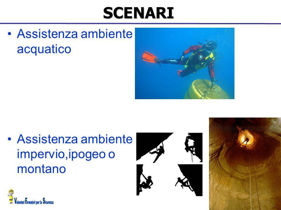 SCENARI Assistenza ambiente acquatico Assistenza ambiente impervio,ipogeo o montano