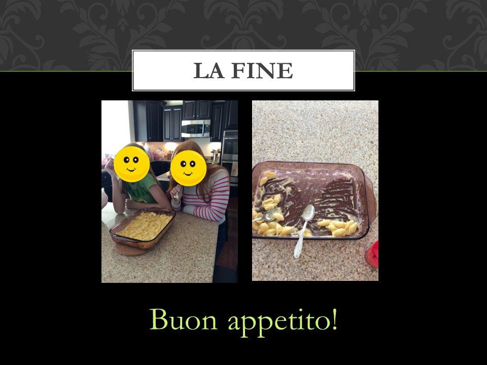 Buon appetito! LA FINE