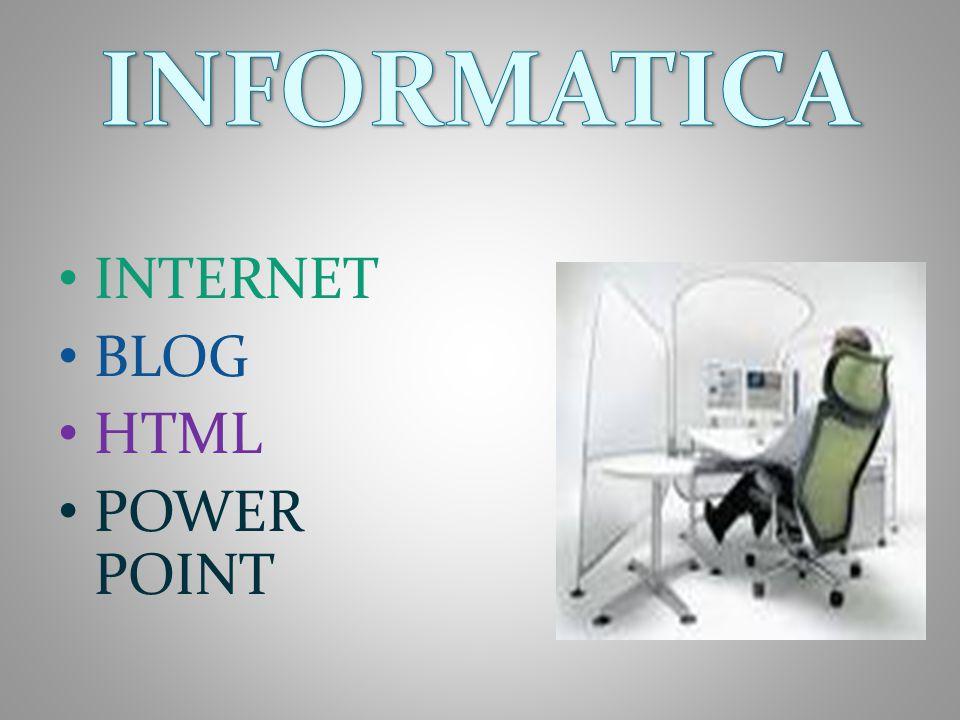 INTERNET BLOG HTML POWER POINT