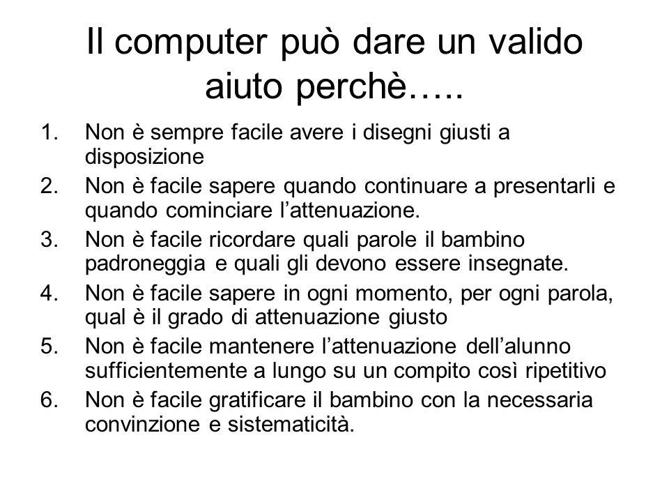 Il computer può dare un valido aiuto perchè….. 1.Non è sempre facile avere i disegni giusti a disposizione 2.Non è facile sapere quando continuare a p
