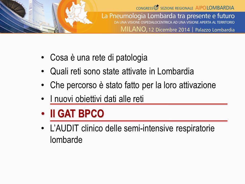 Cosa è una rete di patologia Quali reti sono state attivate in Lombardia Che percorso è stato fatto per la loro attivazione I nuovi obiettivi dati all