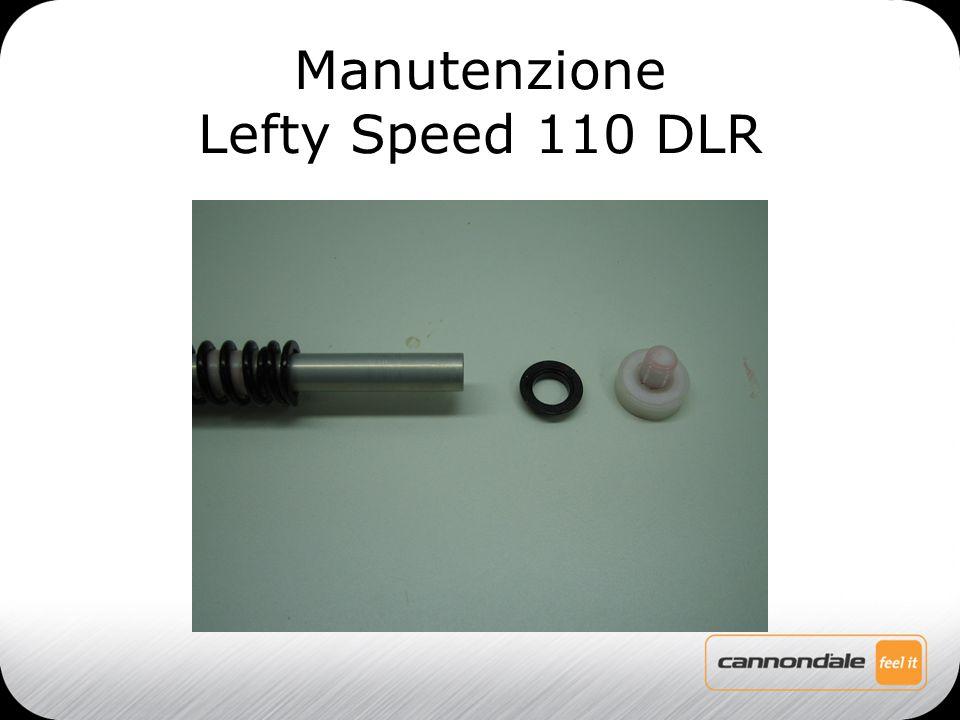 Togliere la guida in plastica, la molla negativa, i distanziali in nylon e gli o-ring Manutenzione Lefty Speed 110 DLR