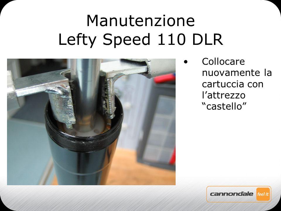 Collocare nuovamente la cartuccia con l'attrezzo castello Manutenzione Lefty Speed 110 DLR