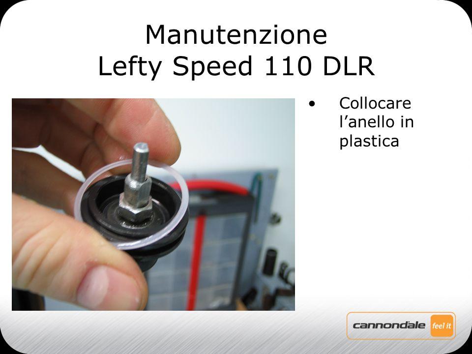 Collocare l'anello in plastica Manutenzione Lefty Speed 110 DLR
