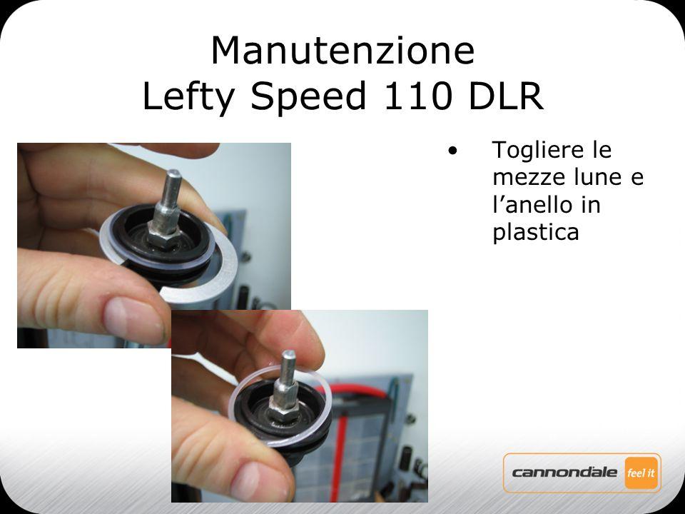 Togliere le mezze lune e l'anello in plastica Manutenzione Lefty Speed 110 DLR