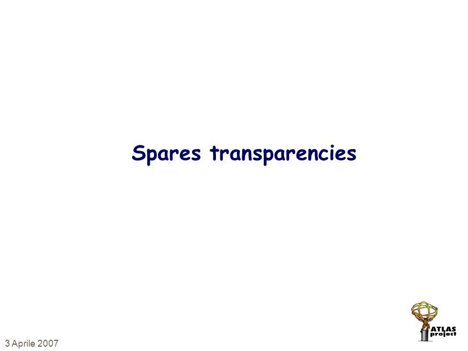 3 Aprile 2007 Spares transparencies