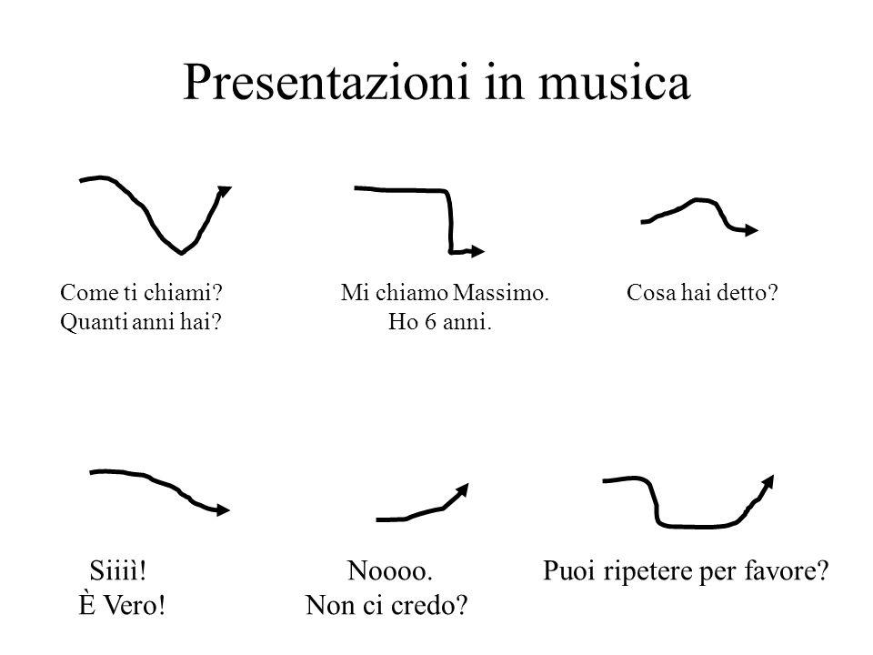 Presentazioni in musica Come ti chiami.Mi chiamo Massimo.