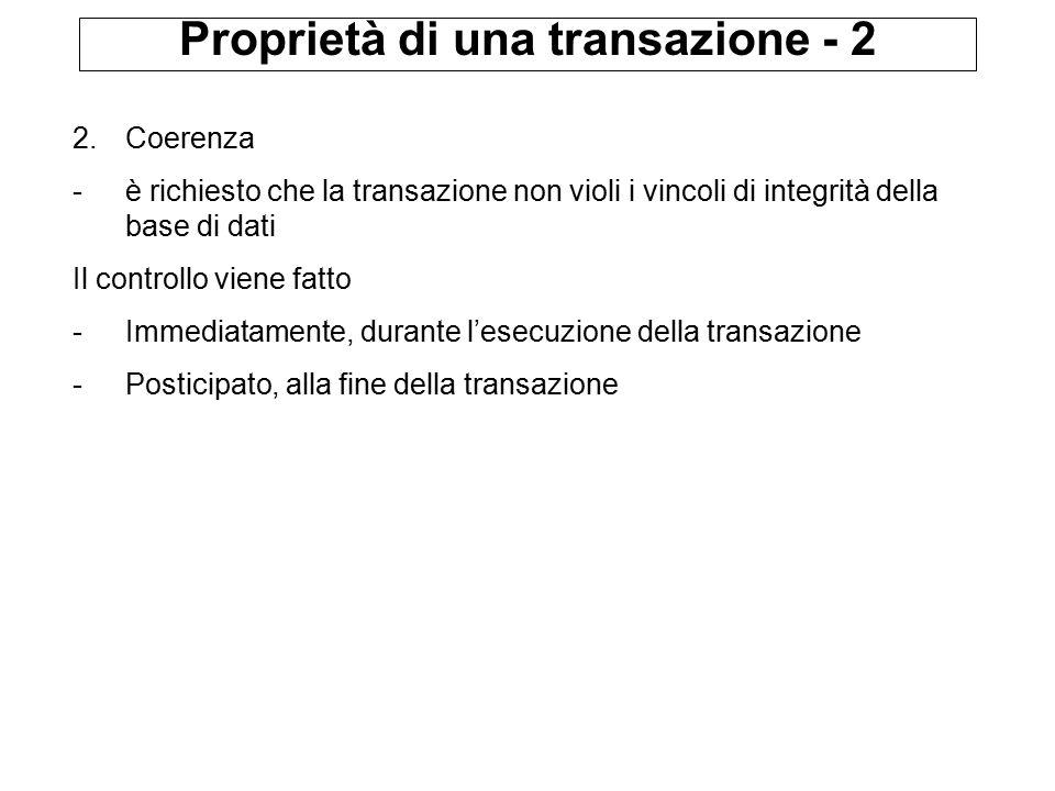 Proprietà di una transazione - 2 2.