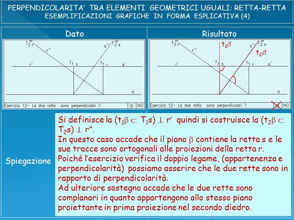 DatoRisultato Spiegazione t1t1 t2t2 Si definisce la (t 1   T 1 s)  r' quindi si costruisce la (t 2   T 2 s)  r .