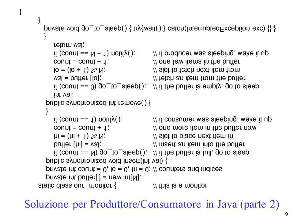 9 Soluzione per Produttore/Consumatore in Java (parte 2)