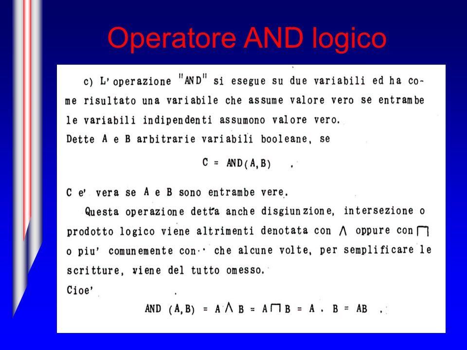 Combinazione degli operatori NOT ed AND