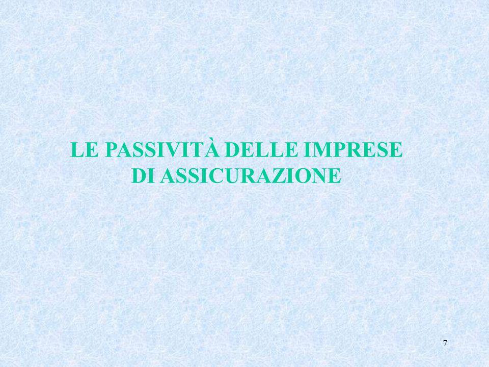 7 LE PASSIVITÀ DELLE IMPRESE DI ASSICURAZIONE