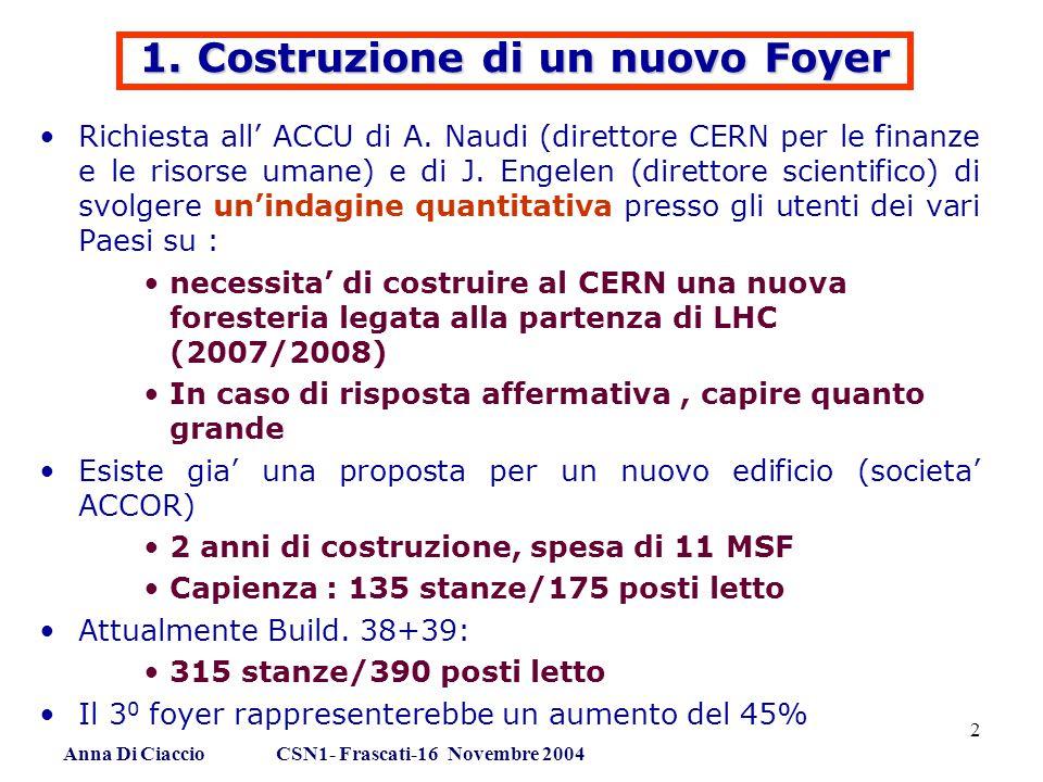 Anna Di Ciaccio CSN1- Frascati-16 Novembre 2004 2 1.