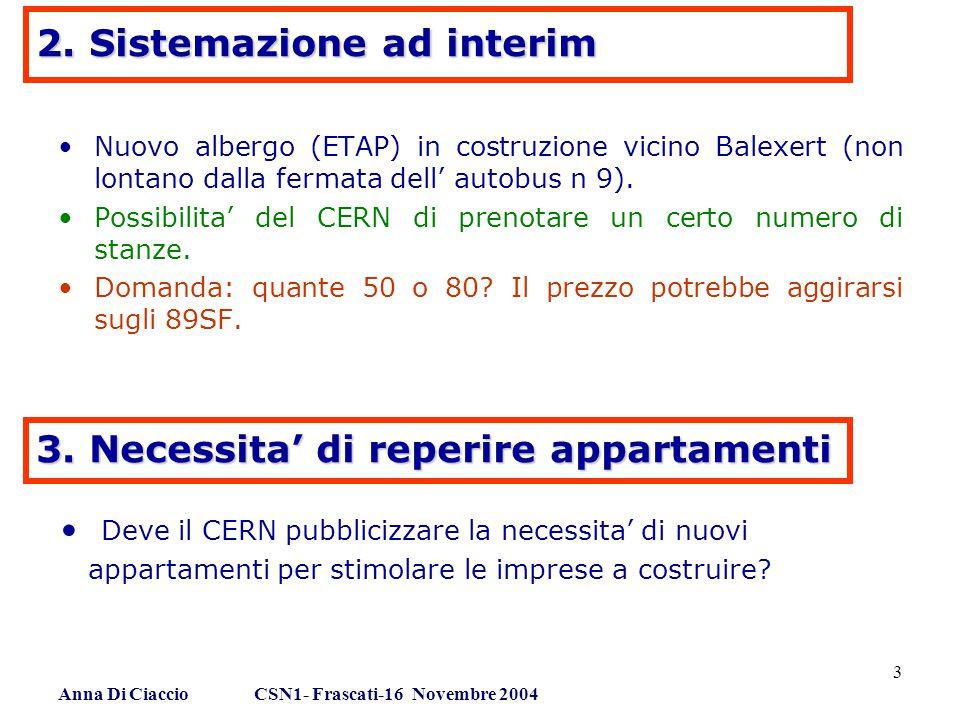 Anna Di Ciaccio CSN1- Frascati-16 Novembre 2004 3 2.