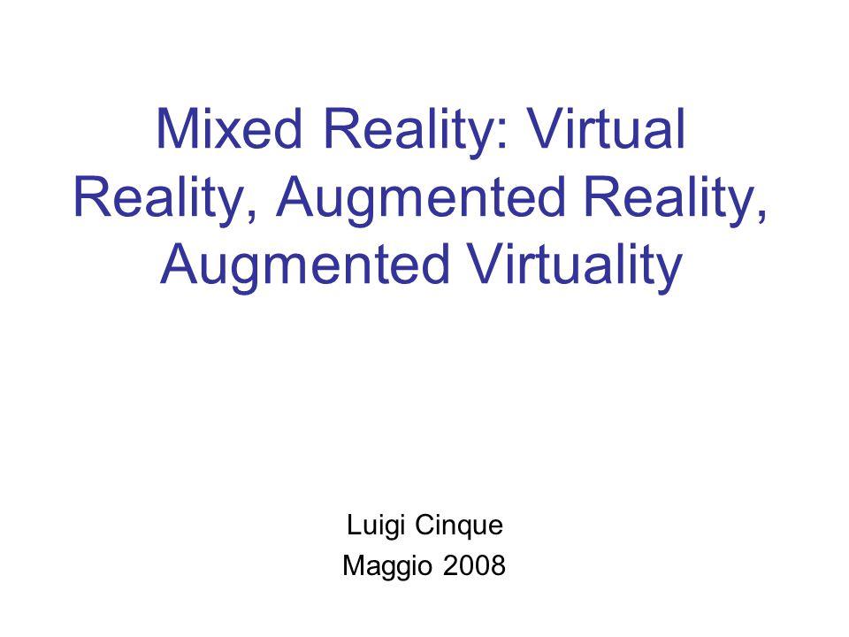Meaning of Virtual and Reality Virtual significa immaginario o non-reale Reality si riferisce allo stato o alla qualita' di essere reale