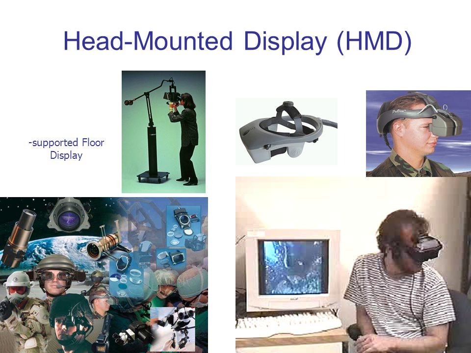 Head-Mounted Display (HMD) -supported Floor Display