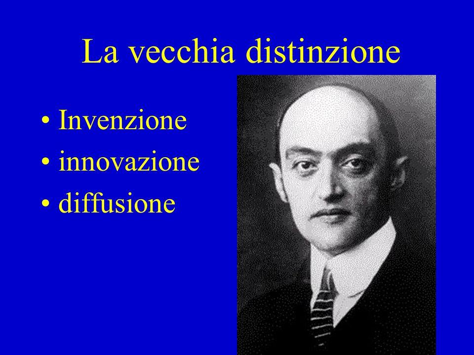 La vecchia distinzione Invenzione innovazione diffusione