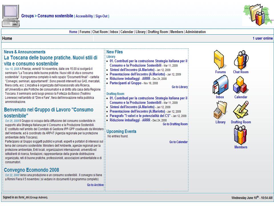 Nuovi supporti per il lavoro in rete: comunicazione interna, gestione delle conoscenze, progettazione e lavoro condiviso