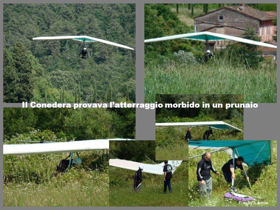 Il Conedera provava l'atterraggio morbido in un prunaio Foto By A,Antoni