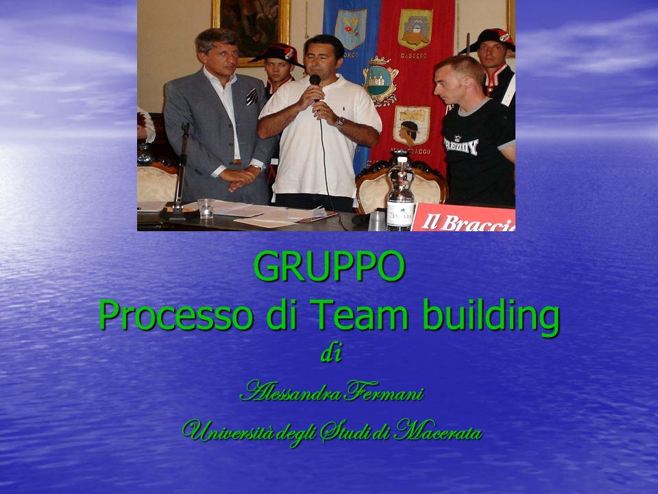 GRUPPO Processo di Team building di Alessandra Fermani Università degli Studi di Macerata