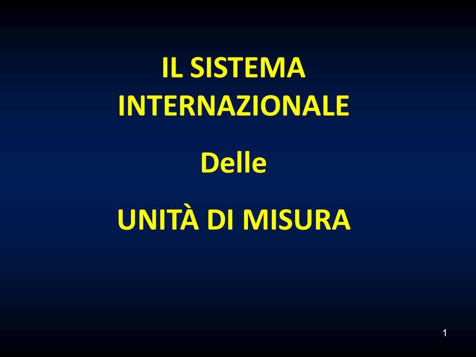 1 IL SISTEMA INTERNAZIONALE Delle UNITÀ DI MISURA