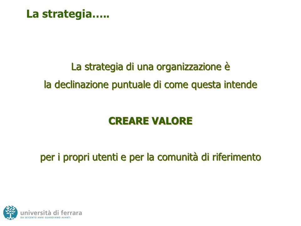 Implica l'individuazione di quelle POCHE misure fondamentali che rappresentano la strategia finalizzata alla creazione di valore nel lungo termine Implica l'individuazione di quelle POCHE misure fondamentali che rappresentano la strategia finalizzata alla creazione di valore nel lungo termine Fare strategia quindi…