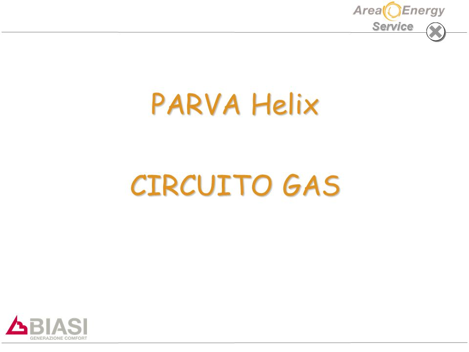 PARVA HELIX GAS Service VALVOLA GAS MOD.