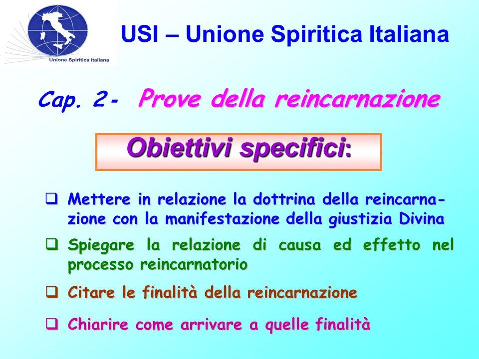 USI – Unione Spiritica Italiana Prove della reincarnazione Cap.