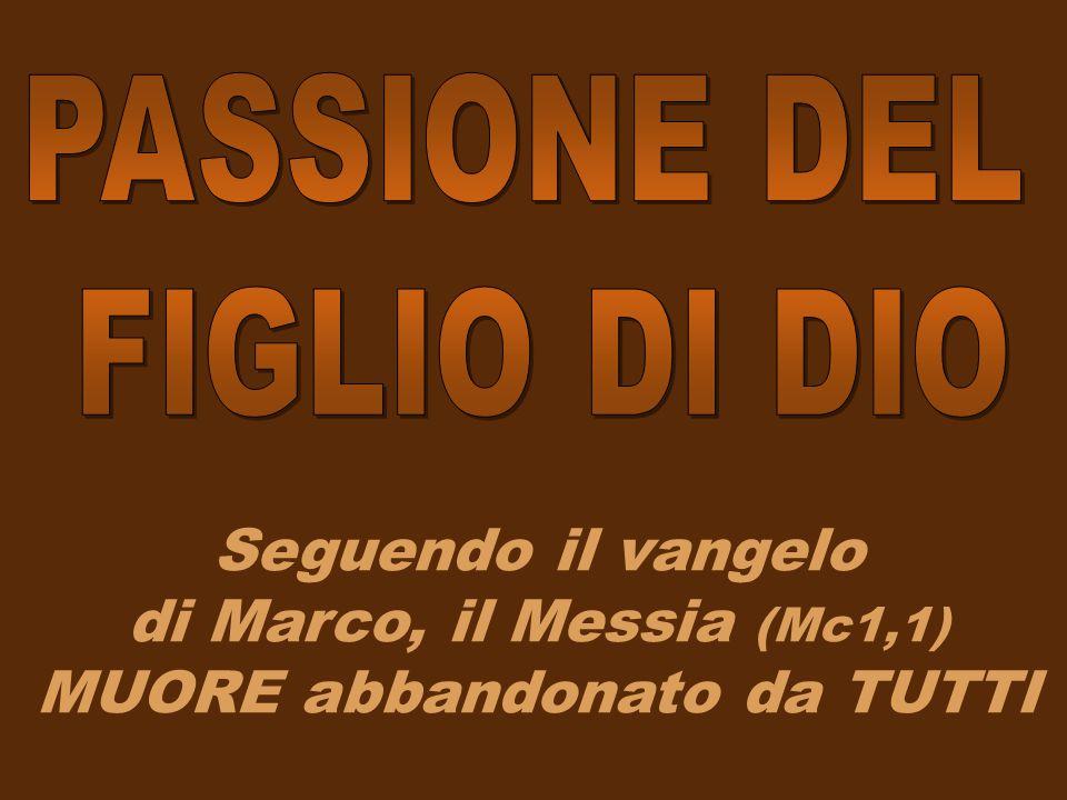 Seguendo il vangelo di Marco, il Messia (Mc1,1) MUORE abbandonato da TUTTI