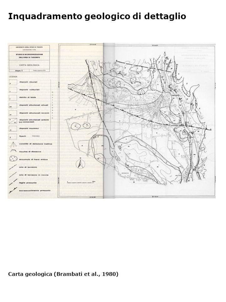 Inquadramento geologico di dettaglio Carta geologica (Brambati et al., 1980)