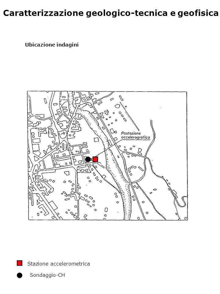 Caratterizzazione geologico-tecnica e geofisica Ubicazione indagini Stazione accelerometrica Sondaggio-CH