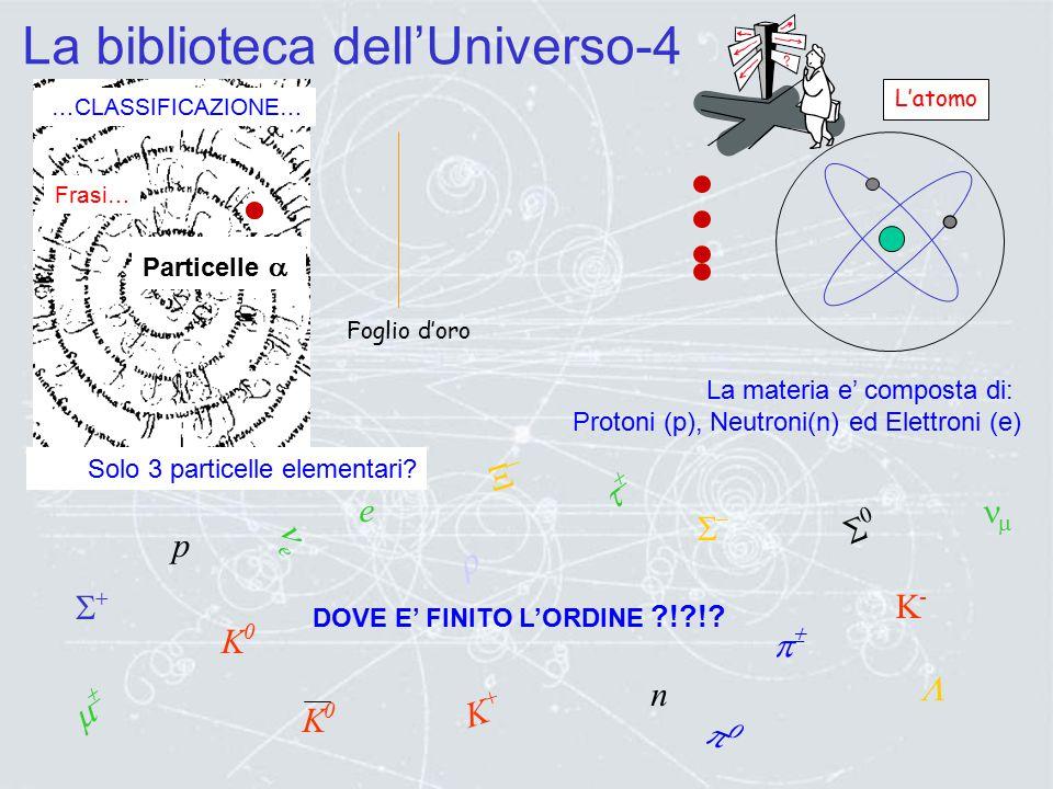 La biblioteca dell'Universo-3 …CLASSIFICAZIONE… Capitoli… Paragrafi… Chimica Biologia