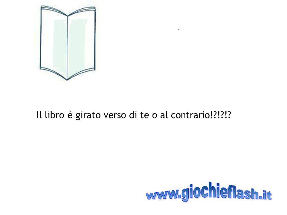 Il libro è girato verso di te o al contrario!?!?!?