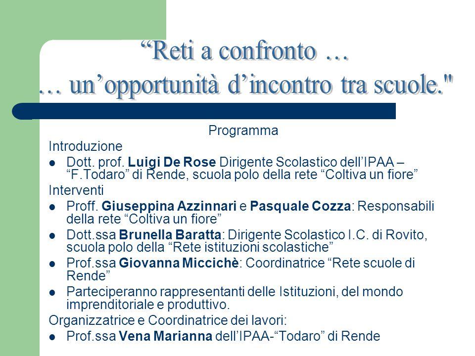 Programma Introduzione Dott. prof.